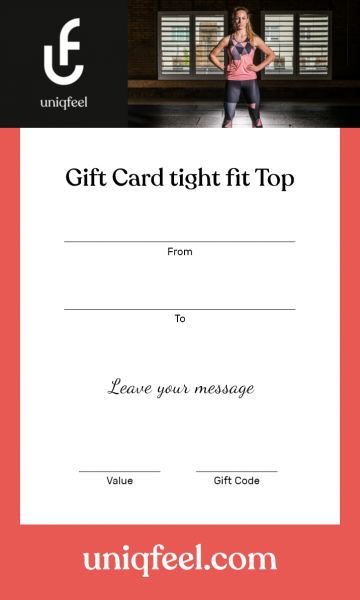 Gift Card Tight Fit Top