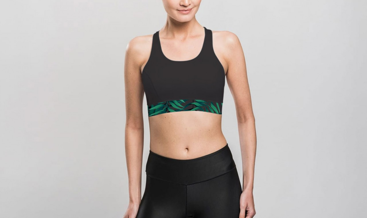 SPORTS BRA Tropical Leaves